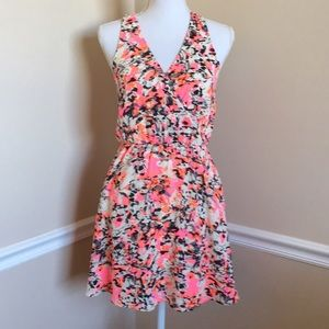 NWOT Lush Neon Kylie Skater Dress